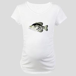 Black Crappie Sunfish fish Maternity T-Shirt