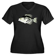 Black Crappie Sunfish fish Plus Size T-Shirt
