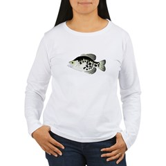 Black Crappie Sunfish fish Long Sleeve T-Shirt
