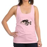 Black Crappie Sunfish fish Racerback Tank Top