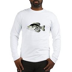 Black Crappie Sunfish fish Long Sleeve T-Shirt