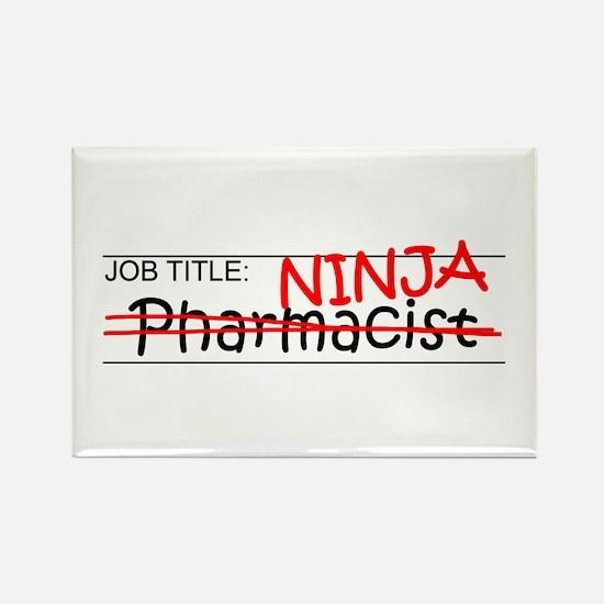 Job Ninja Pharmacist Rectangle Magnet