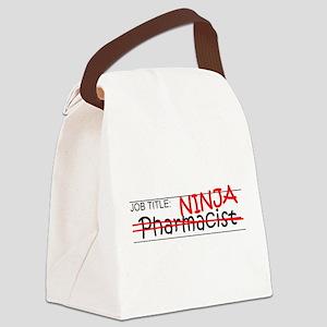 Job Ninja Pharmacist Canvas Lunch Bag