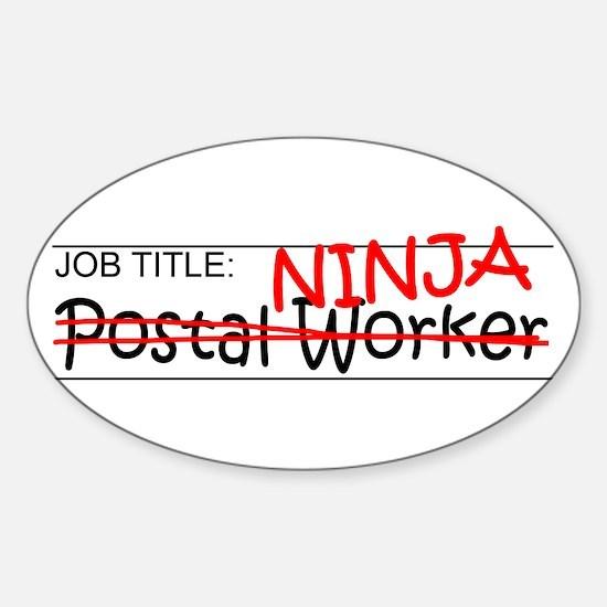Job Ninja Postal Worker Sticker (Oval)