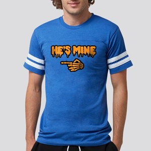 Halloween He's Mine Mens Football Shirt