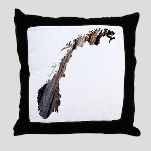 Norway - Norwegian wood Throw Pillow