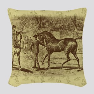 Classic Equine Woven Throw Pillow