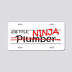 Job Ninja Plumber Aluminum License Plate