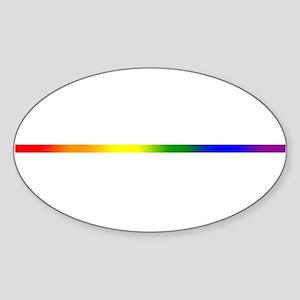 PRIDE STRIPE Sticker (Oval)