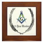 Masonic 25 year member award Framed Tile