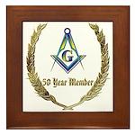 Masonic 50 year member award Framed Tile
