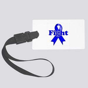 Blue Ribbon Fight Luggage Tag