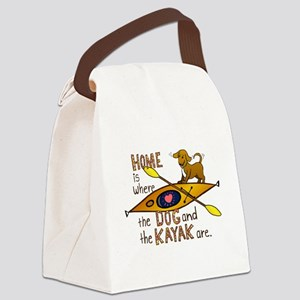 HOMEkayakDOG Canvas Lunch Bag
