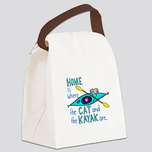 2-homekayakcatcolor2 Canvas Lunch Bag