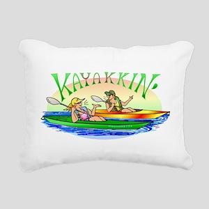 3-yakyakB Rectangular Canvas Pillow