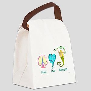 peaceluvmermaidstrans Canvas Lunch Bag