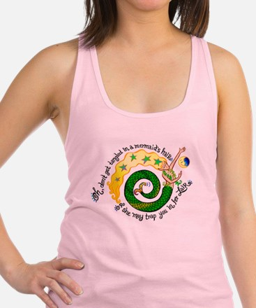 3-Dontgettangled.png Racerback Tank Top