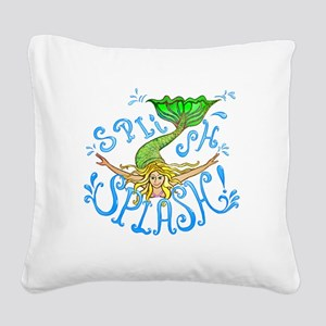 splashAbcd Square Canvas Pillow