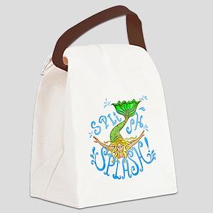 splashAbcd Canvas Lunch Bag