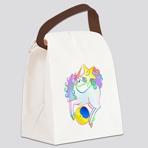 Celestial Unicorn Canvas Lunch Bag