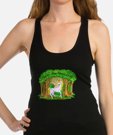 save the foresys.png Racerback Tank Top