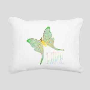 lunamothfsmudedtrans Rectangular Canvas Pillow