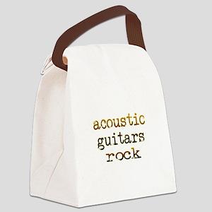 acousticguitarsrockedges Canvas Lunch Bag