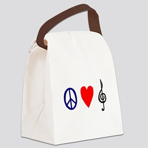 peacelovemusictrans Canvas Lunch Bag