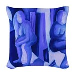 Reflections in Blue II Woven Throw Pillow