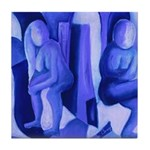 Reflections Blue II Abstract Angels Tile Coaster