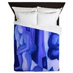 Reflections Blue II Abstract Angels Queen Duvet