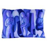 Reflections Blue II Abstract Angels Pillow Case