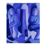 Reflections Blue II Abstract Angels Throw Blanket