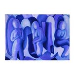 Reflections Blue II Abstract Angels 5'x7'Area Rug