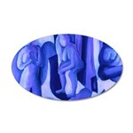 Reflections in Blue II 35x21 Oval Wall Decal