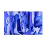 Reflections in Blue II 20x12 Wall Decal