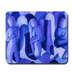 Reflections Blue II Abstract Angels Mousepad