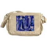 Reflections Blue II Abstract Angels Messenger Bag
