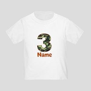 3rd Birthday Camo T-Shirt