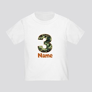 3rd Birthday Camo T Shirt