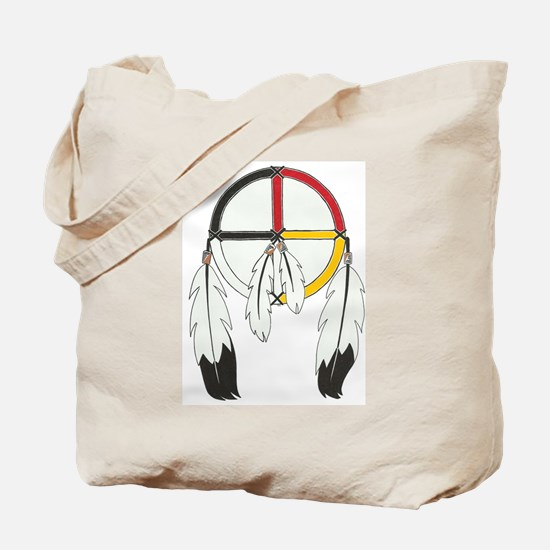 Feathered Medicine Wheel Tote Bag
