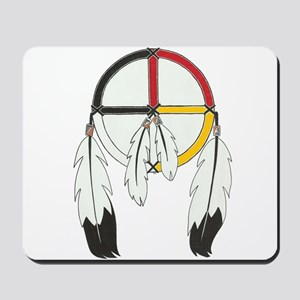 Feathered Medicine Wheel Mousepad