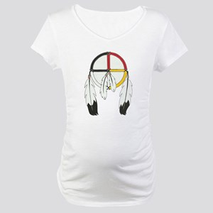 Feathered Medicine Wheel Maternity T-Shirt