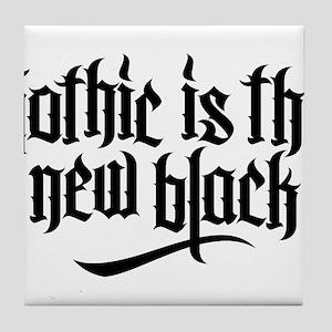 Gothic new black No.1 Tile Coaster