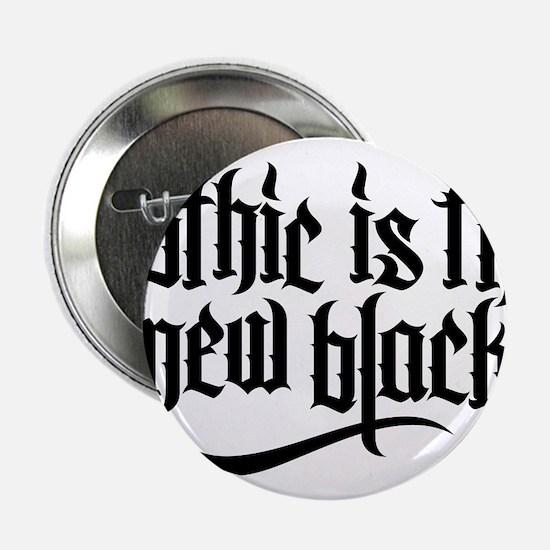 "Gothic new black No.1 2.25"" Button"