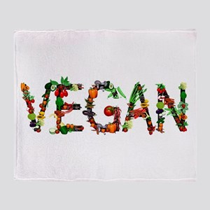 Vegan Vegetable Throw Blanket