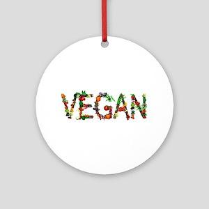 Vegan Vegetable Ornament (Round)