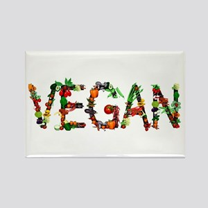 Vegan Vegetable Rectangle Magnet
