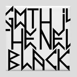 Gothic new black No.2 Tile Coaster