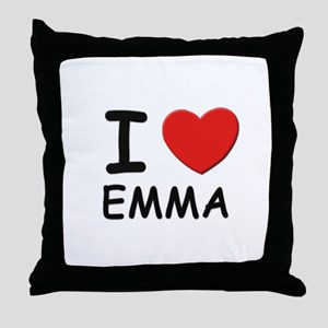 I love Emma Throw Pillow